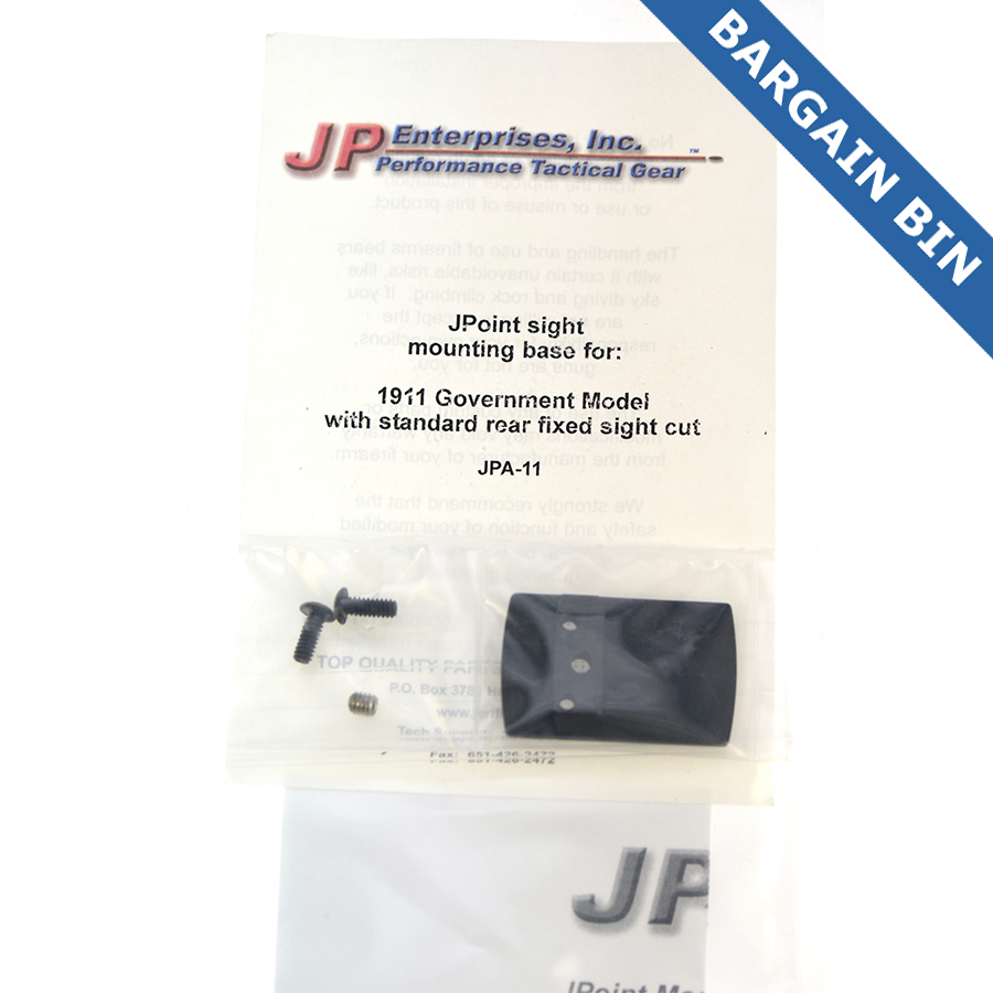 BB700024 Jpoint Reflex sight mount (1911 Fixed Rear Site Dovetail) - New