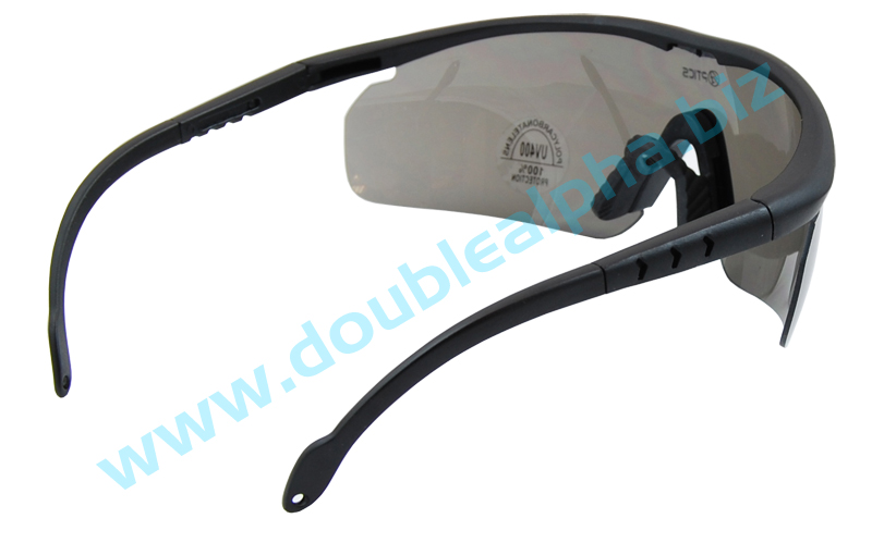 DAA Optics Model Lima IPSC Shooting Glasses Back View