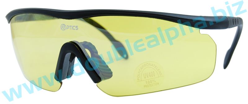 DAA Optics Model Lima IPSC Shooting Glasses Yellow Lens
